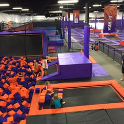 photo of altitude trampoline park denton tx united states foam pit