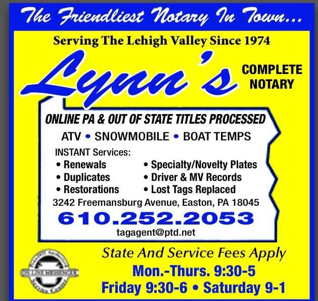Lynn's Complete Notary Service: 3242 Freemansburg Ave, Easton, PA