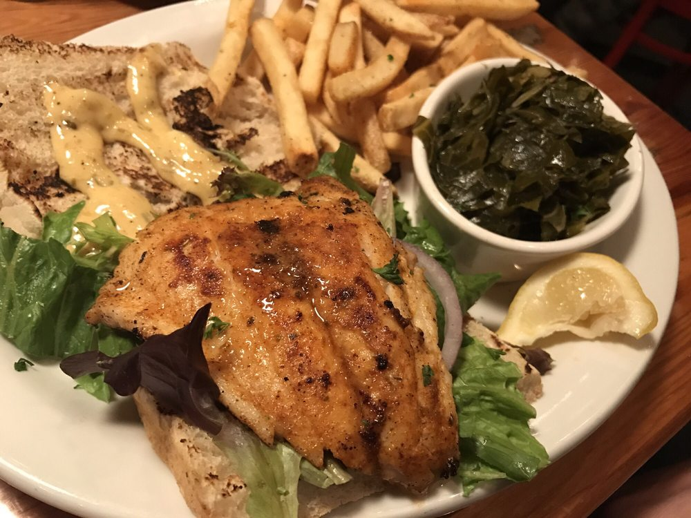 Blackened big fish sandwich yelp for Fish and grits near me