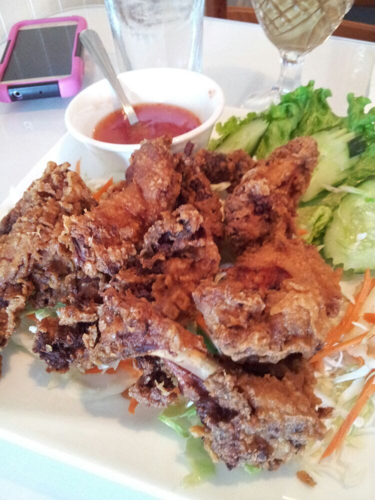 Fried chicken with sweet sour sauce yelp for Ano thai lao cuisine menu