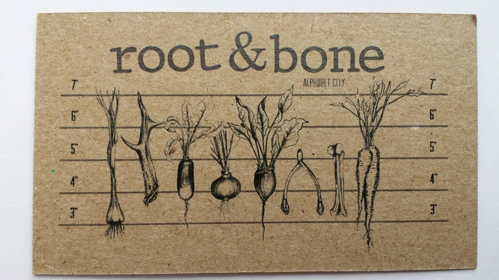 Business card printed on 100 post consumer recycled kraft paper photo of root bone new york ny united states business card reheart