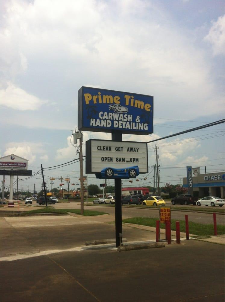 Prime Time Carwash & Hand Detailing: 3612 Center St, Deer Park, TX