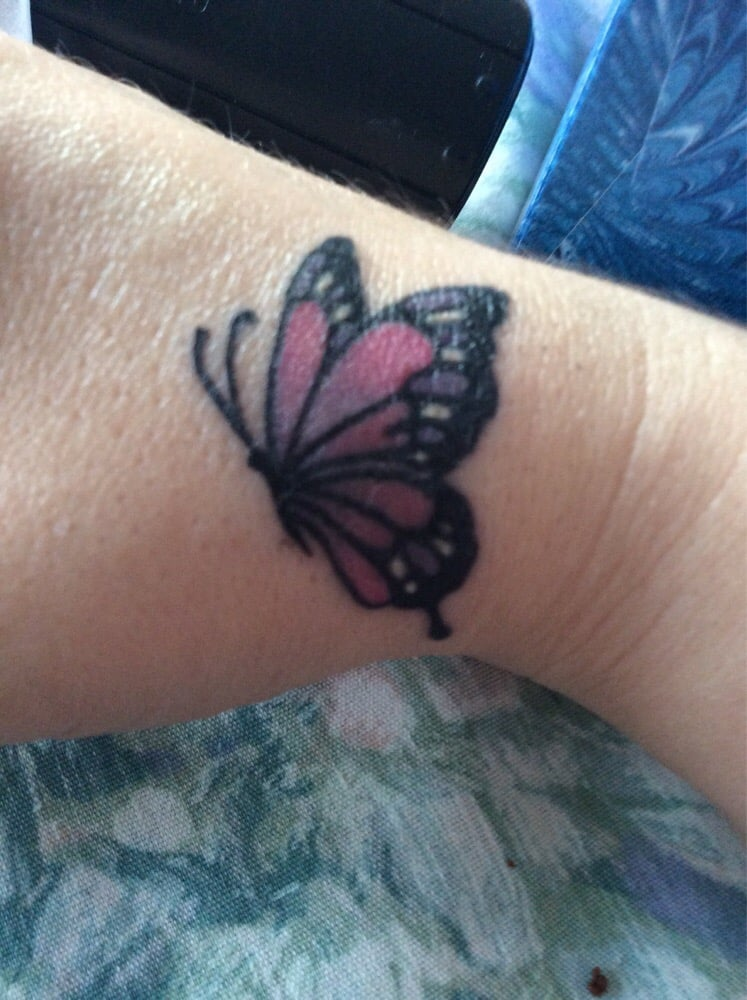 4ab65d888d Corey covered up my burn scar with this beautiful butterfly tattoo ...