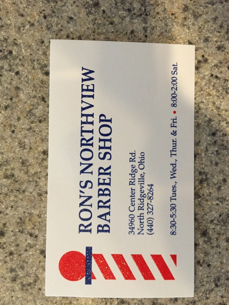 Ron's Northview Barber Shop: 34960 Center Ridge Rd, North Ridgeville, OH