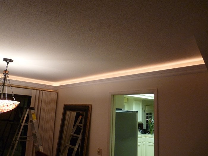 Crown moulding with rope lights yelp 21 photos for v v trim aloadofball Choice Image