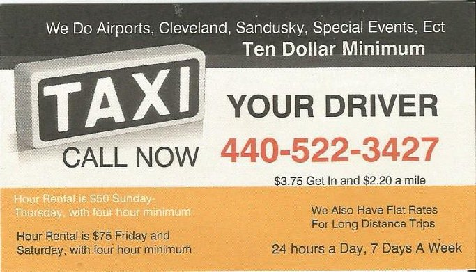 Your Driver Taxi: Elyria, OH