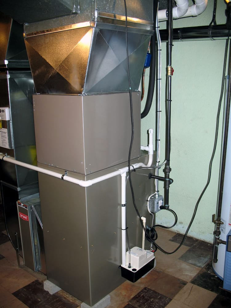 Furnace Ac Condensate And Humidifier Drain Plumb Into