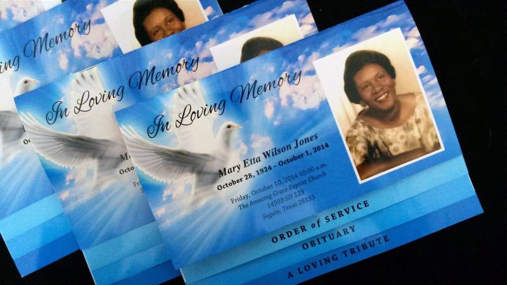 Photo Of The Funeral Program Site Mckinney Tx United States Graduated Bottom