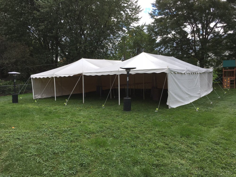Photo of Rent Rite Events - Elk Grove Village IL United States. Two & Two 20u0027x 40u0027 canopy tents with sides and heaters. - Yelp