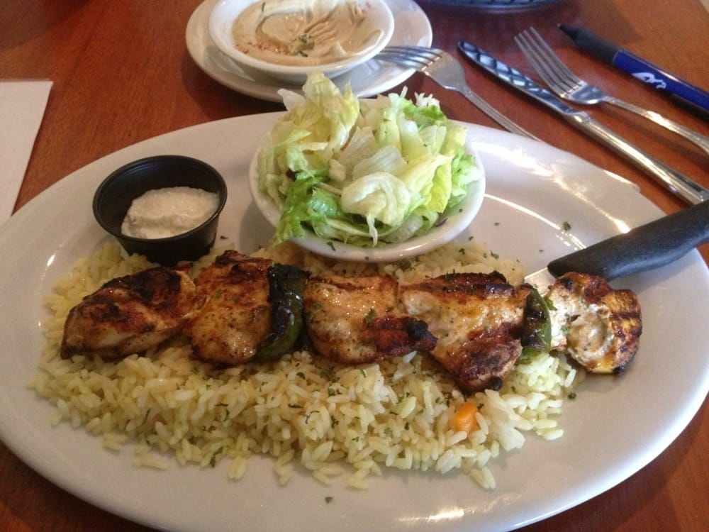 Shish tawook platter chicken kabob lunch special served for Alina s lebanese cuisine