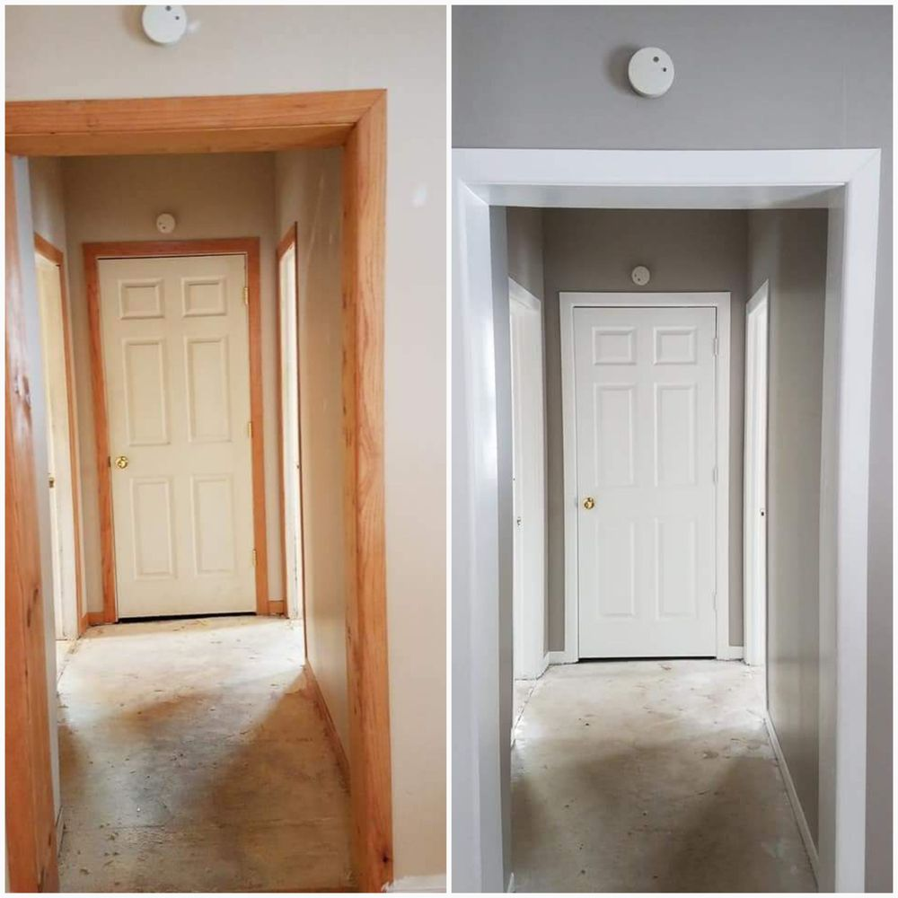 Before And After Trim And Wall House Painting Yelp