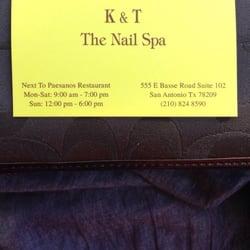 K & T The Nail Spa logo