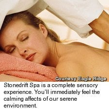 Stonedrift Spa: Eagle Ridge Resort, Galena, IL