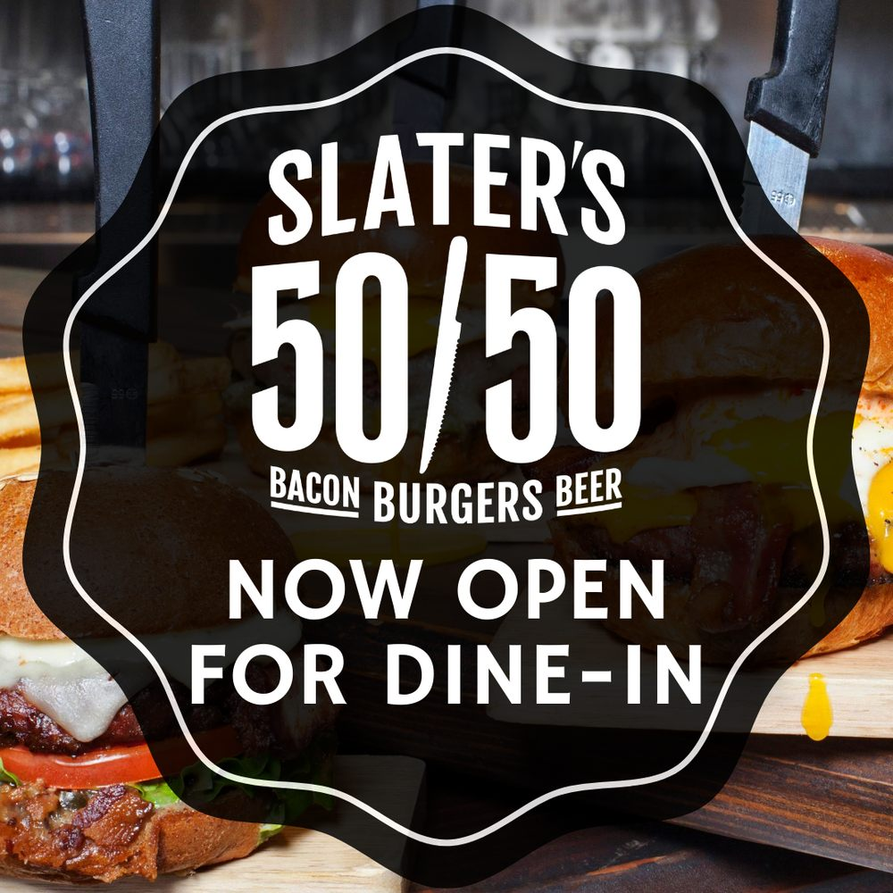 Food from Slater's 50/50