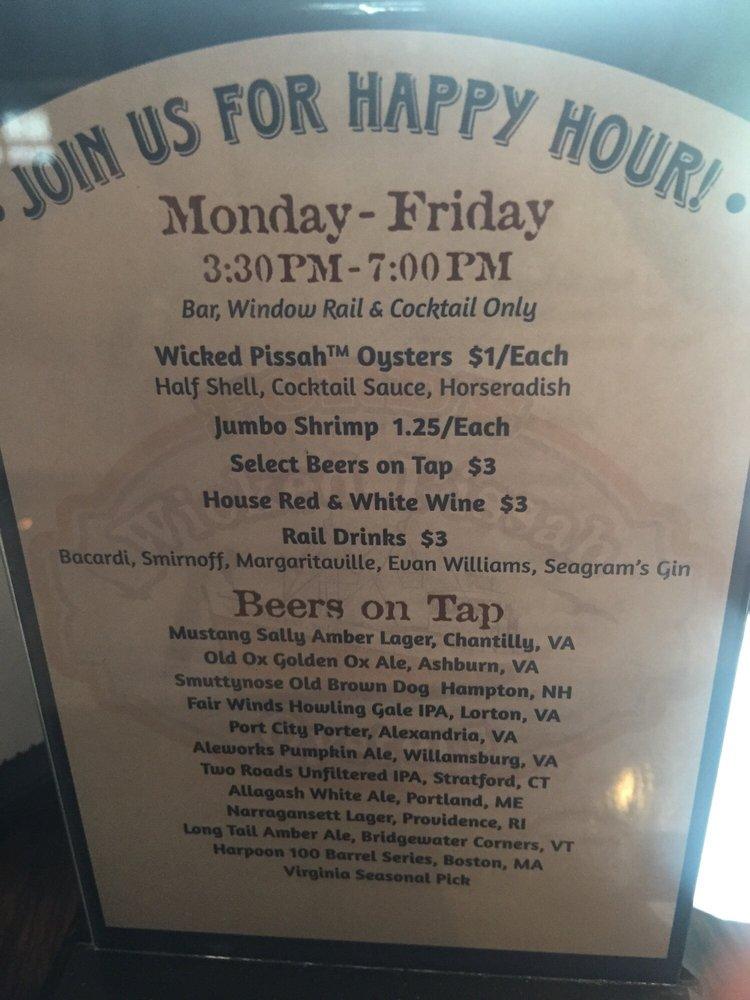 Happy hour menu yelp for Ford s fish shack menu