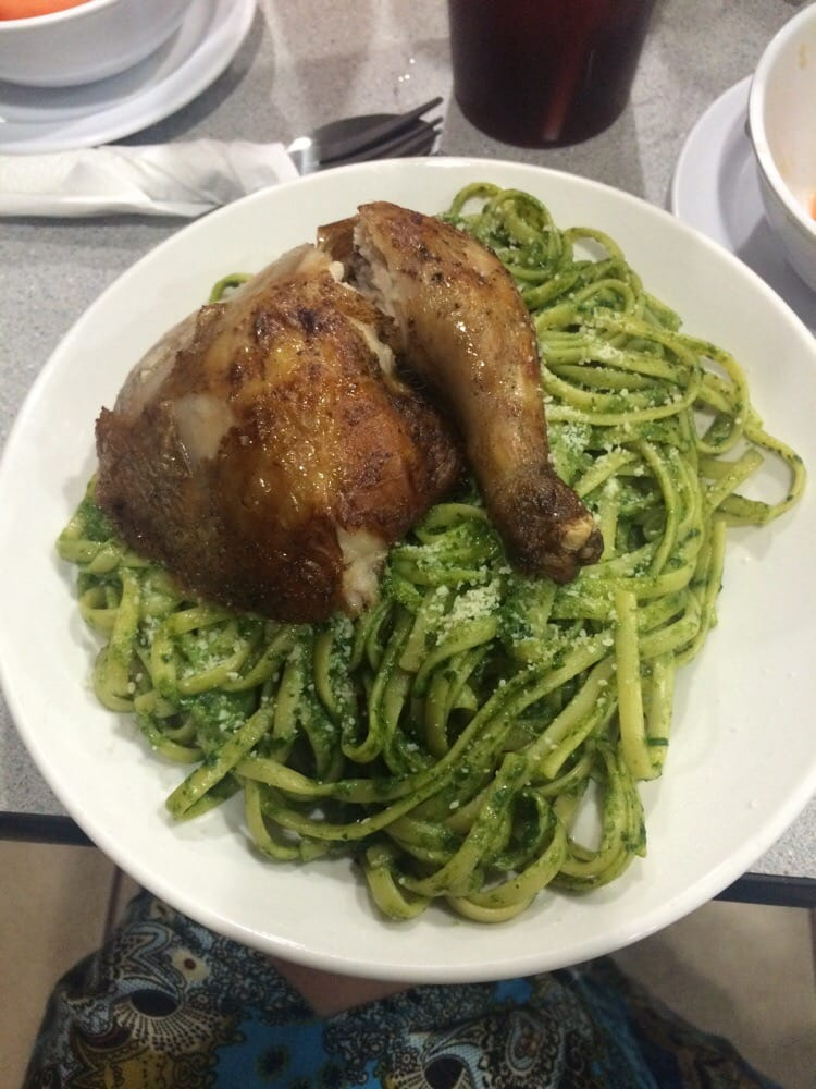 Tallarin Verde Con Pollo