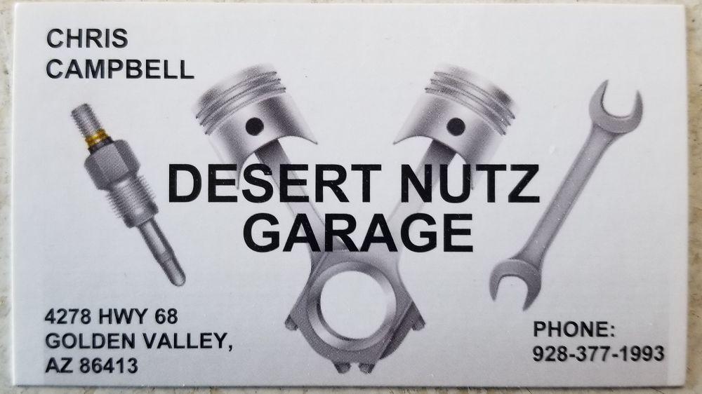 Desert Nutz Garage: 4278 Hwy 68, Golden Valley, AZ