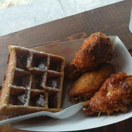 Chicken And Waffles From The Dinner Menu Very Tasty And