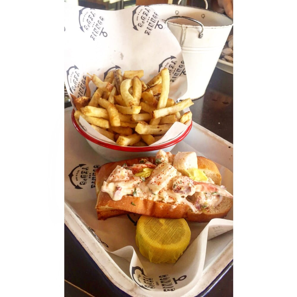 Lobster roll 26 with fries yelp for Ted s fish fry menu