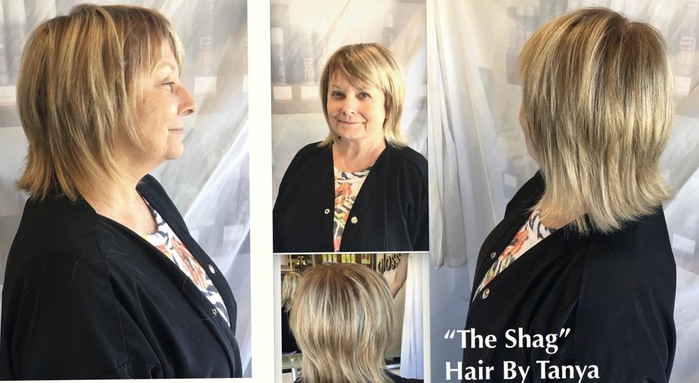 Shag Hair Cut With Single Process Color Hilites By Tanya Yelp