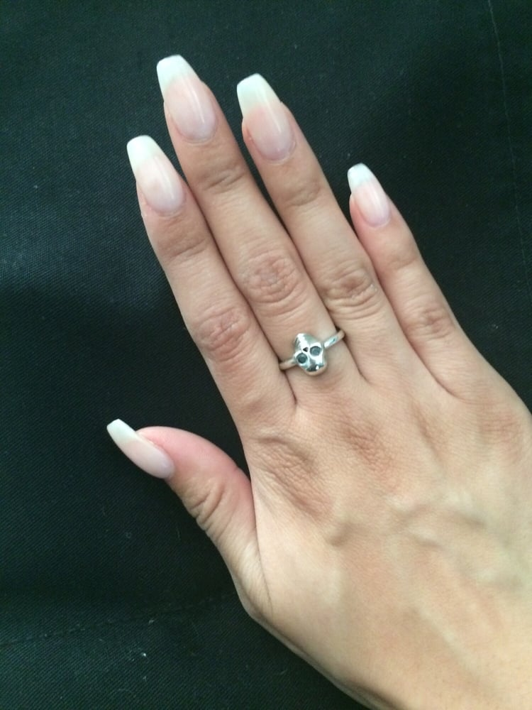 Natural gel color with coffin shape - Yelp