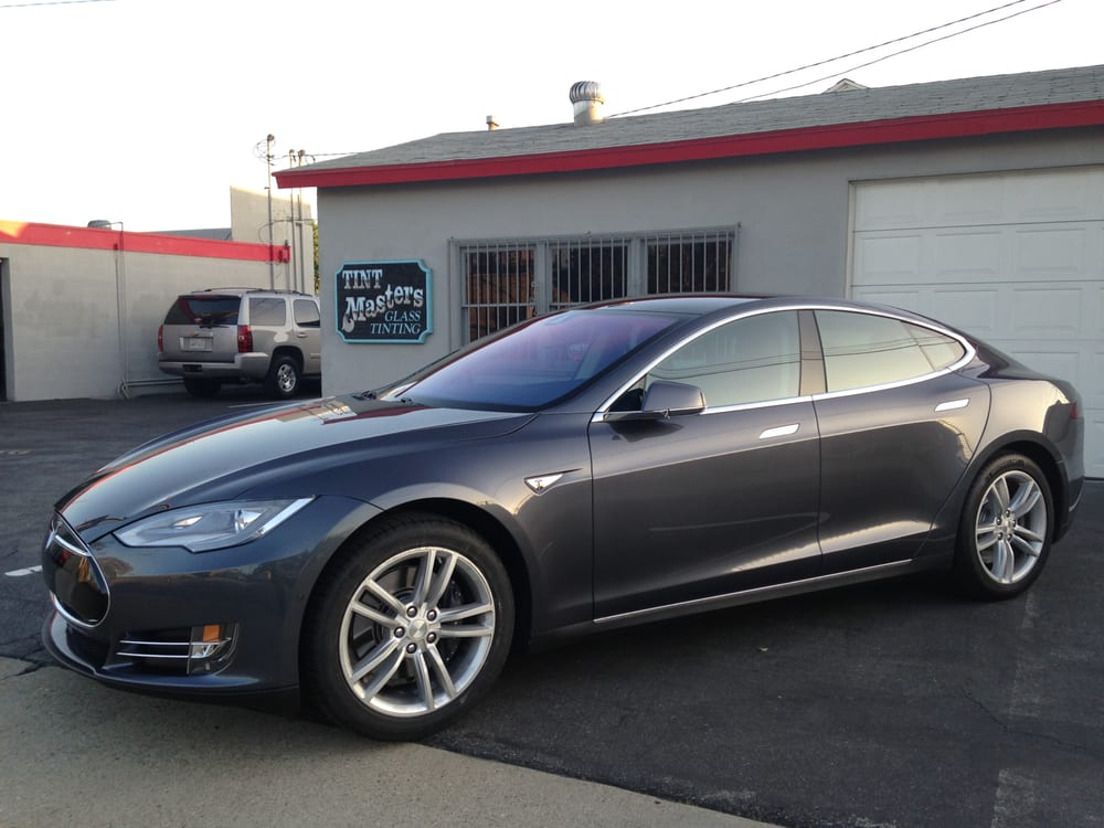 2015 tesla model s tinted with 3m crystalline 70 on all. Black Bedroom Furniture Sets. Home Design Ideas