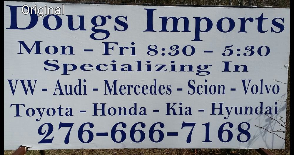 Doug's Import: 30 Terrys Mountain Rd, Martinsville, VA