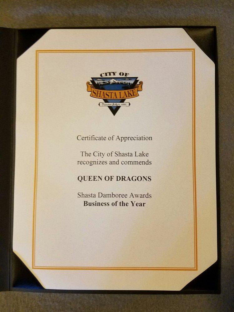 Queen Of Dragons: 5044 Shasta Dam Blvd, Shasta Lake, CA