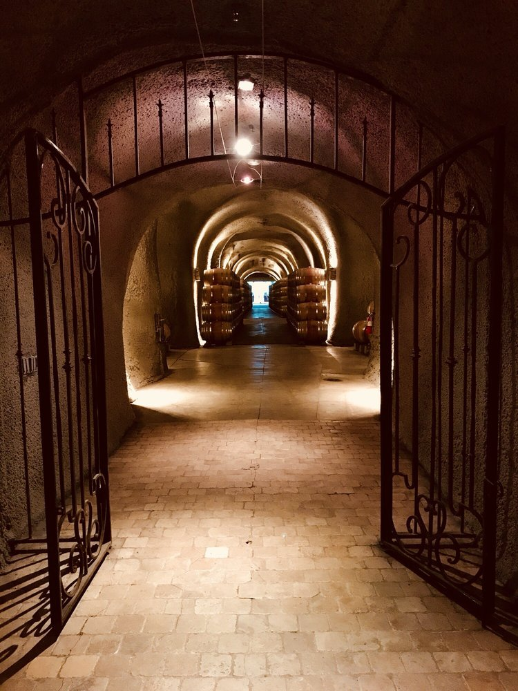 View of the iron gates from within the Isosceles Room  - Yelp