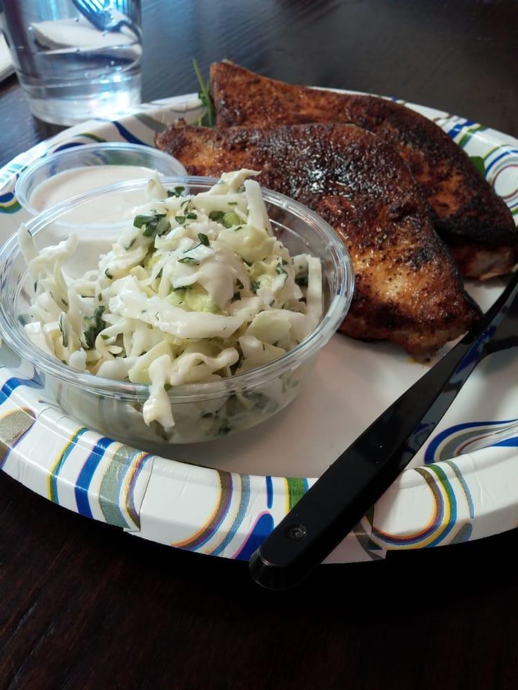 Blackened swordfish with horseradish cream and cilantro for Fish market charlotte nc