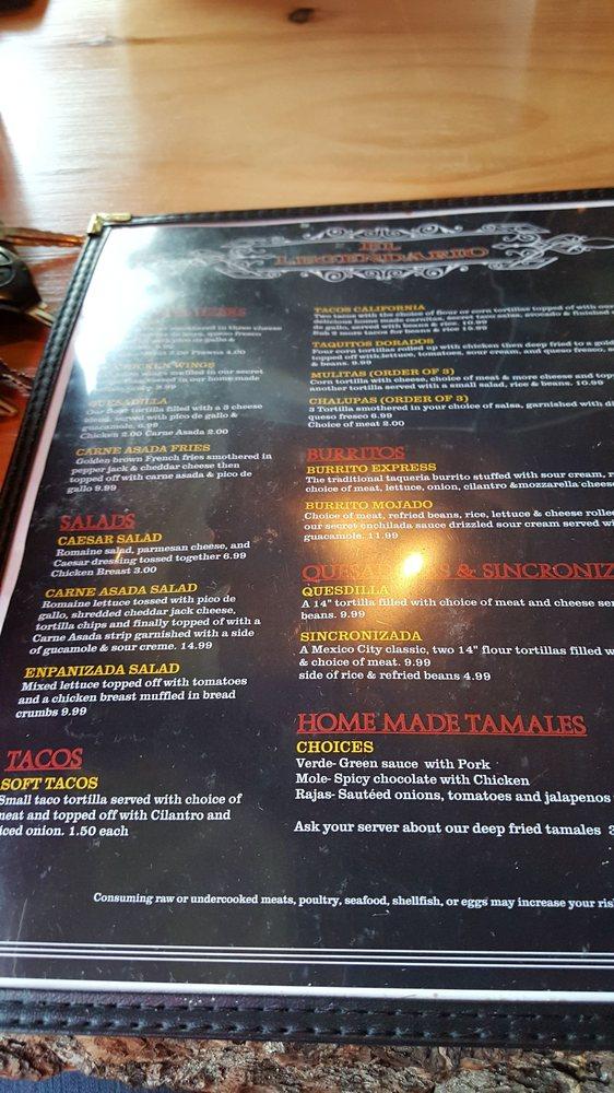 Dario S Mexican Restaurant Menu