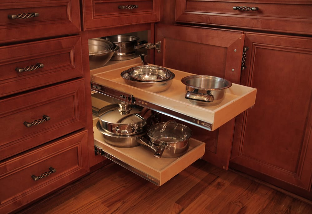 Blind corner cabinets can be a pain! But our blind corner solution ...