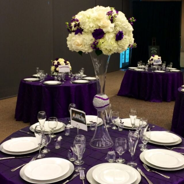 Tall hydrangea wedding centerpiece purple and white flowers on photo of garden of roses moreno valley ca united states tall hydrangea mightylinksfo