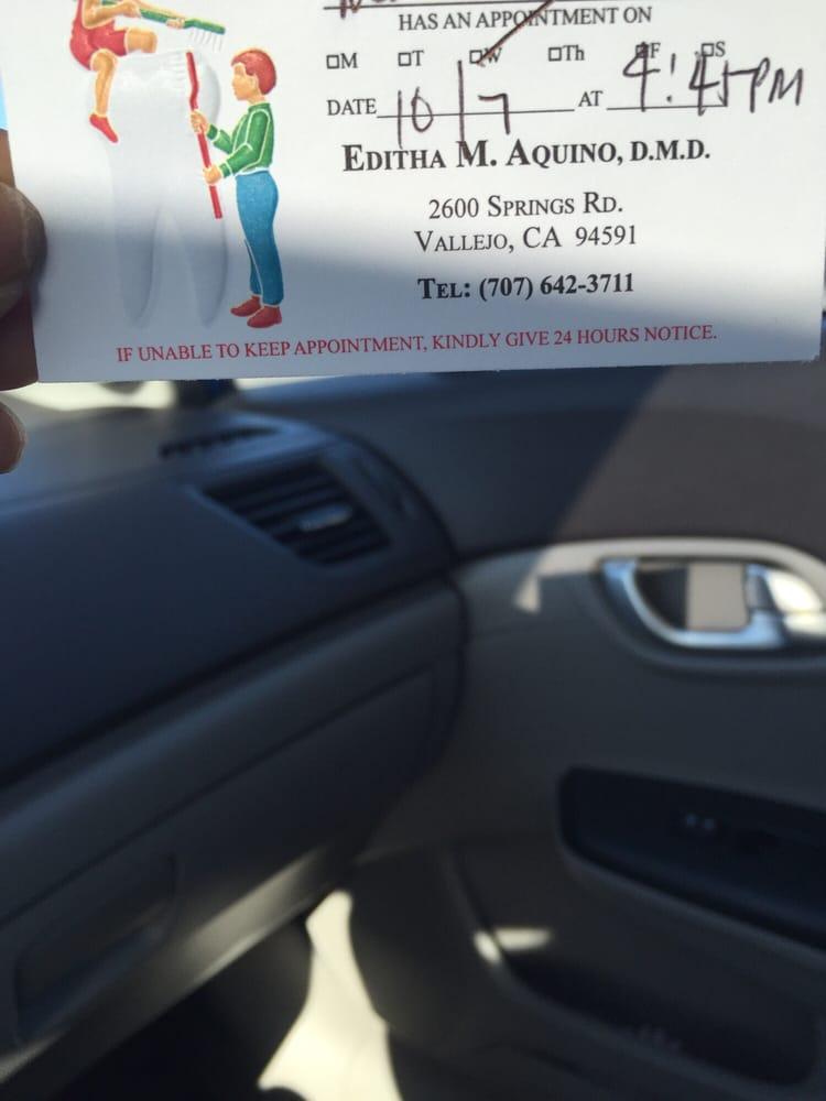 Editha M Aquino, DMD: 2600 Springs Rd, Vallejo, CA