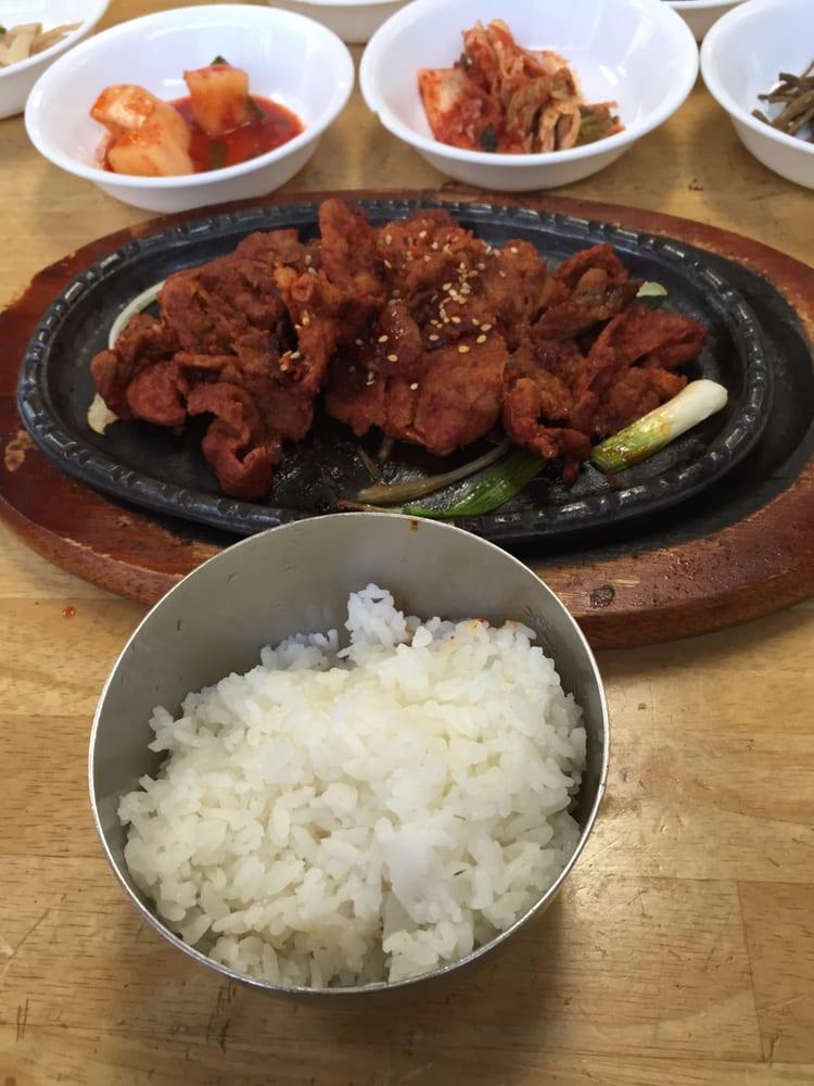 Korean hot pork with rice awesome yelp for Asiana korean cuisine restaurant racine