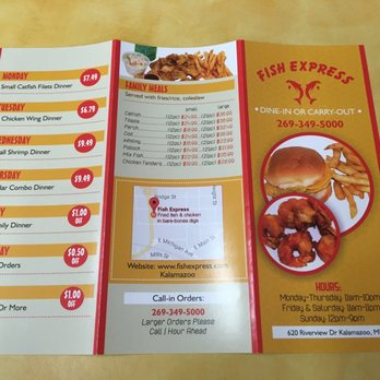 Fish express 19 photos seafood 620 riverview dr for Fish express menu
