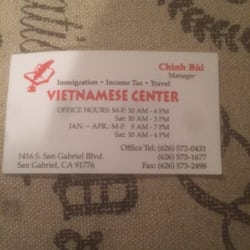 Vietnamese travel center travel services 1416 s san gabriel blvd photo of vietnamese travel center san gabriel ca united states business card reheart Image collections