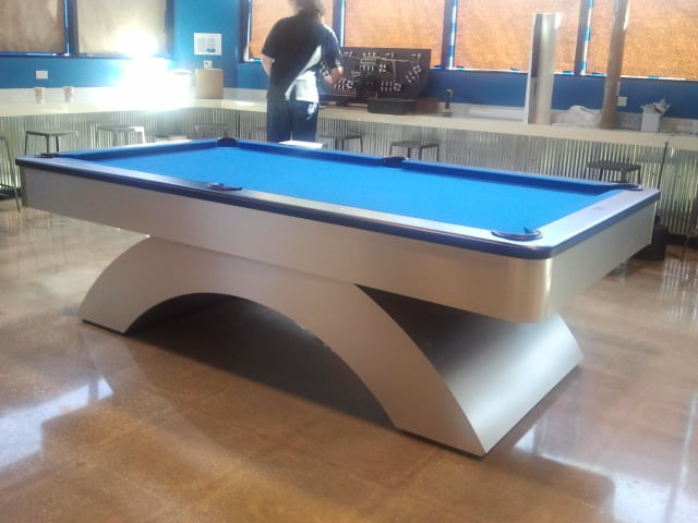Olhausen Waterfall With Electric Blue Cloth Yelp - Electric blue pool table