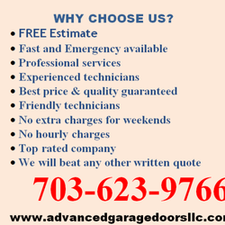 Photo Of Advanced Garage Doors, LLC   Lorton, VA, United States. WHY