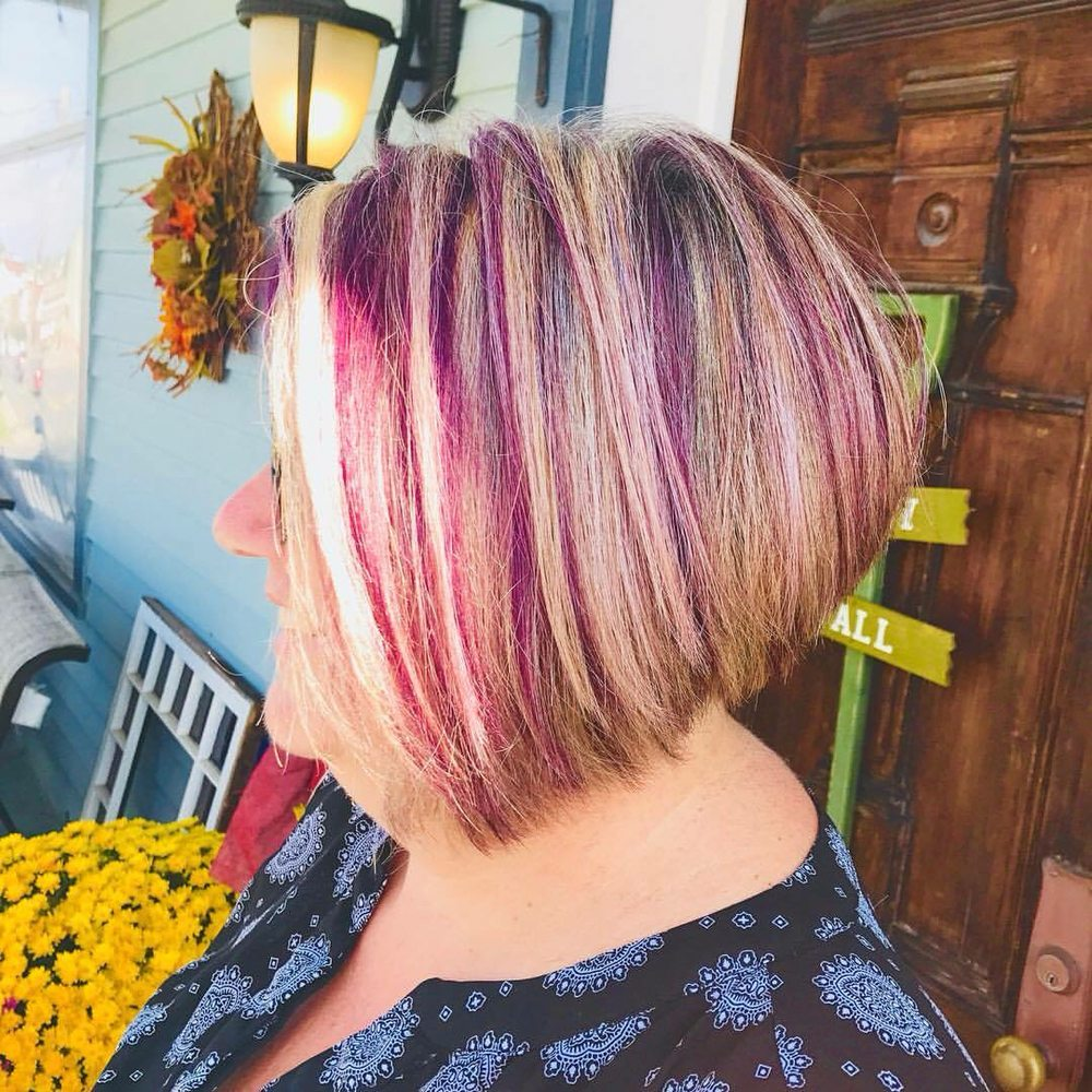 Blonde Highlights With Plum Lowlights Yelp
