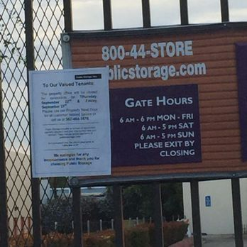 Photo Of Public Storage   Whittier, CA, United States. The Gate Hours Should