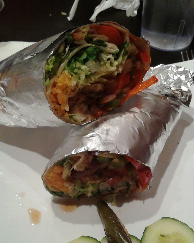 Pita Kitchen Sacramento: Burrito Made Vegan. Ask For The Whole Beans Because The