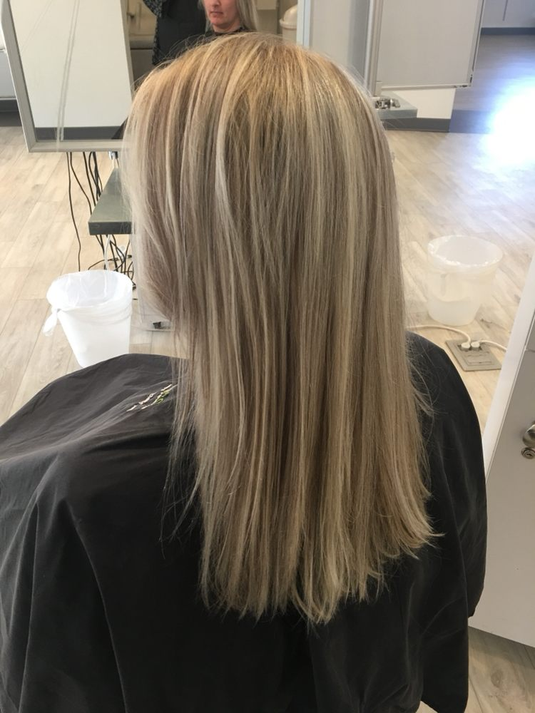 Platinum Blonde Highlights And Warm Lowlights For Deep Contrast On