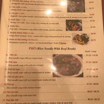 Viet Restaurant El Paso Menu