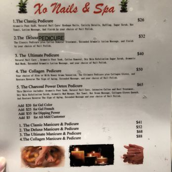 Xo Nails And Spa Prices
