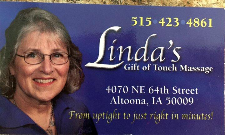 Linda's Gift of Touch Massage: 4070 NE 64th St, Altoona, IA