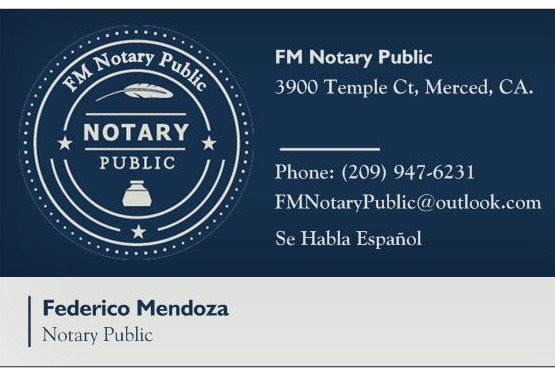 FM Notaries: 3900 Temple Ct, Merced, CA