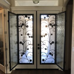 Photo Of Door Conversions   Campbell, CA, United States. Wrought Iron Door  Inserts