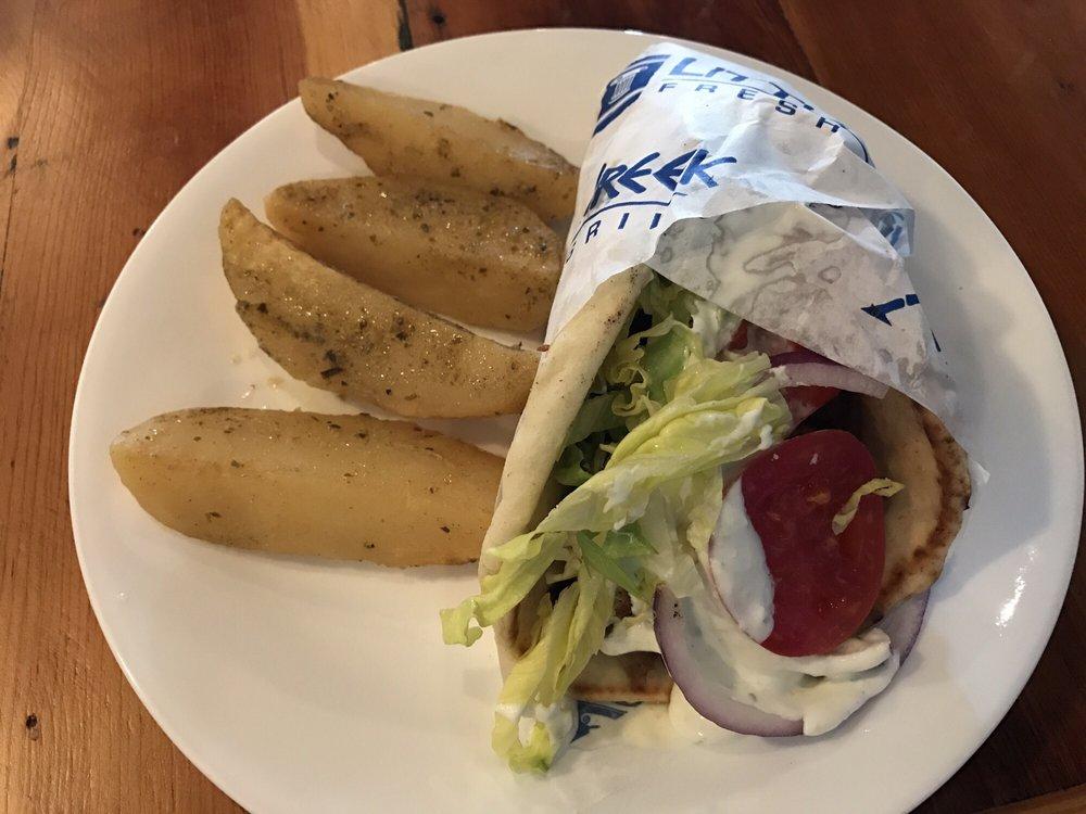 Pita Wrap With Side Of Greek Potatoes - Yelp