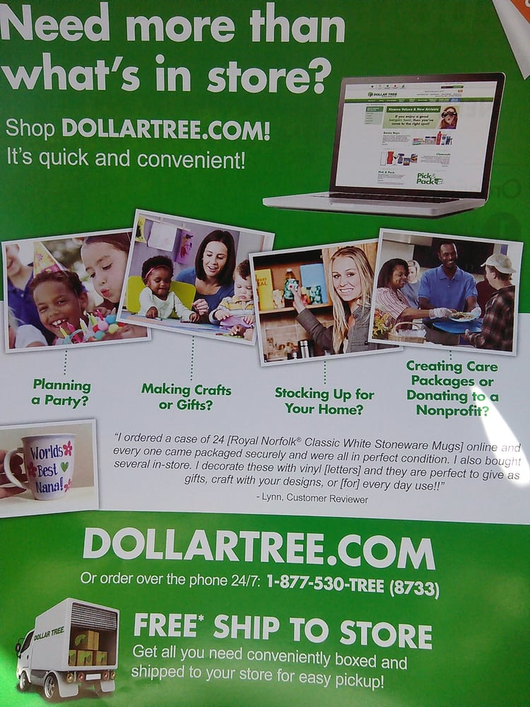 Dollar tree store online shopping